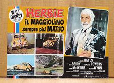 HERBIE IL MAGGIOLINO SEMPRE PIù MATTO fotobusta poster affiche Walt Disney 1974