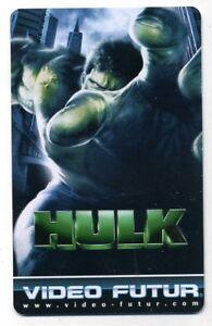 VIDEO FUTUR  collector  HULK   (236)