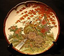"9 3/4"" D Marked Genzan Japanese Taisho Period Satsuma Plate"