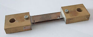 Brass current shunt, brass ended type, 100A 100mV    SHB100