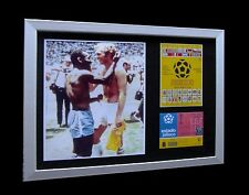 ENGLAND+BRAZIL-PELE-MOORE 1970 WORLD CUP LTD Nod FRAMED+EXPRESS GLOBAL SHIPPING
