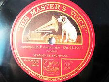 78rpm VLADIMIR DE PACHMANN Piano CHOPIN Impromptu+Nocturne - ORIG. HMV