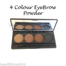 Professional 4 colour EYEBROW Powder/Shadow Palette With Double Ended Brush!