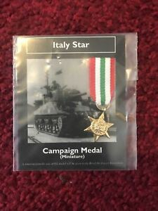 Italy Star Miniature Campaign Medal