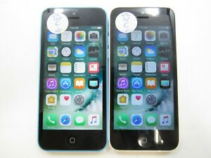Lot of 2 Apple iPhone 5c A1532 Unlocked 16GB Check IMEI Fair Condition AD-519