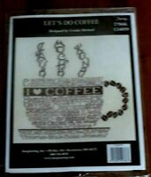 Imaginating Counted Cross Stitch Kit  Let's Do Coffee Ursula Michael 2564K 12405
