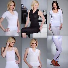 Ladies Thermal Underwear Short & Long Sleeved Vests Long John Jeans Ski Wear Top