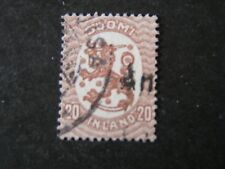 FINLAND, SCOTT # 90a, 20p VALUE BROWN 141/4X143/4 PERF 1924 REPUBLIC ARMS USED