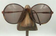 Vintage Revue A102 C15 Tortoise Oversized Oval Sunglasses Eyeglasses Italy