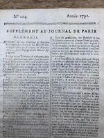 Traite des Esclaves 1791 Esclavage Buenos Aires Brésil Bouillon Marine Espagnol