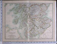 1915 LARGE MAP SCOTLAND SOUTH SHEET ARGYLL PERTH STIRLING LANARK AYR DUMFRIES