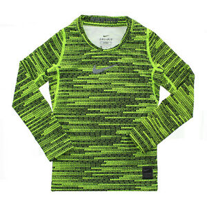 Nike Pro Warm Big Boys Youth Warm Thermal Pull Over Training Top Shirt, 856133