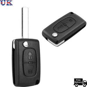 2 Button Replacement Flip Car Key Fob Case Shell For PEUGEOT 207 307 308 & 407