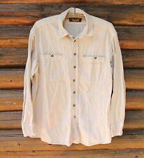 Harley Davidson Mens Vintage Button Up Shirt Embroidered Long Sleeve Adult M +