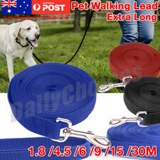 1.8/4.5/6/9/15/30M Extra Long Strong Nylon Pet Dog Puppy Training Walking Lead