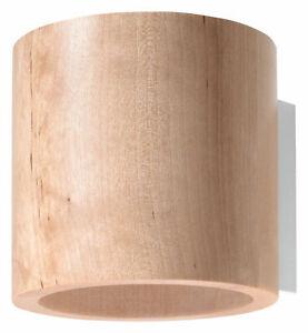 Kleine Wandlampe Holz Up Down G9 wohnlich VALERYA Flur Wohnzimmer Wandleuchte