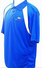FORD PERFORMANCE DRY WICKING REEBOK POLO ROYAL AND WHITE EMBROIDERY