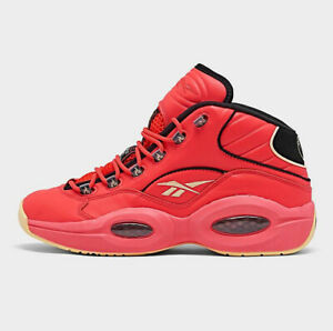 Reebok Question Mid Allen Iverson Men Athletic Sneaker Basketball Shoe Hot Ones