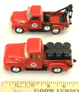 1999 Road Champs 1:43 Texaco Oil Delivery Pickup & Tow Truck Diecast Boxed Set