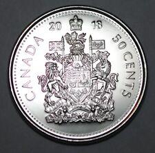 Canada 2018 Logo 50 cents Nice UNC from roll - BU Canadian Half Dollar