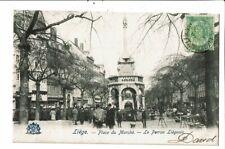 CPA-Carte Postale-Belgique-Liège-Place du Marché- Perron Liégeois--début 1900 VM