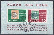 Svizzera 1965 Bf 20 esposizione filatelica Berna usato
