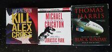 Lot of 3 Mystery/Thriller/Suspense Audiobooks on CD