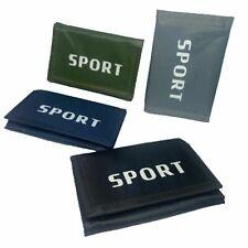 Unisexe Sports toile Handy Wallet Purse ID CASH Card zippées Argent Titulaire Pochette