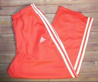 Adidas 3 Stripes Stretch Sweats Cropped Capri Pants Womens Small Pink Athletic