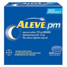 ALEVE PM - Pain reliever/nighttime sleep-aid - 160 Caplets naproxen