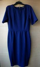 SMART, ROYAL BLUE/PURPLE DRESS WITH SHORT SLEEVES BY WAREHOUSE - UK 10-12