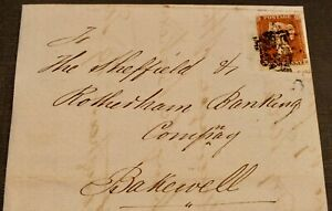 QV 1842 penny red cover  posted Nottingham with MX plate 32