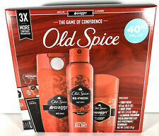 NEW Old Spice Swagger Gift Box Set Body Wash Spray Anti-Perspirant Deodorant
