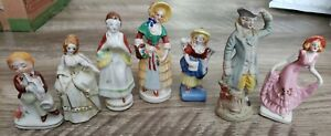 "Vintage ""Made in Occupied Japan"" Lot of 7 Porcelain Figurines"