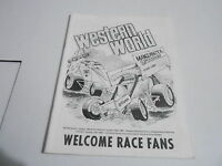 #MISC-2933 vintage car racing program - OCT 1989 MANZANITA SPEEDWAY