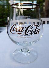 VINTAGE COCA-COLA COKE GLASS GERMAN GERMANY GOLD LOGO & RIM 300ML 10OZS PERFECT