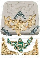 Silicone mould Baroque Scrolls | Food Use FPC Sugarcraft FREE UK shipping!