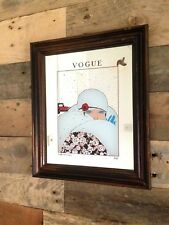 VINTAGE VOGUE MAGAZINE EARLY FEBRUARY 1919 ADVERTISING MIRROR ART NOUVEAU LADY