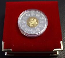 Canada 2001 $15 Proof Silver - Lunar year Of Snake  with CAO and velvet Box