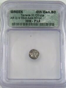 Ancient Greek: Tarsus, Cilicia 4th Century BC Silver ¾ OBOL Asia Minor ICG F12.