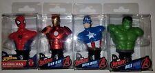 Marvel Avengers Mini Busts Paper Weight Set Lot Spider-Man Hulk Captain America