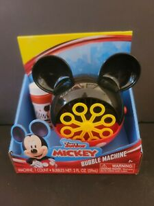 Mickey Mouse Bubble Machine With Bubbles Disney Junior Ages 3+ SHIPS FAST