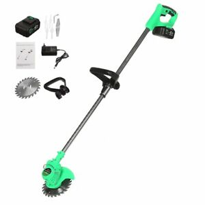 "Cordless Grass Trimmer Electric 24V Garden Lawn Weed Edger 1"" Cutter Battery"