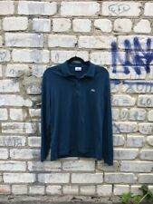 Lacoste Men's Long Sleeved Polo Shirt gray crocodile size XS (2) stretch fit