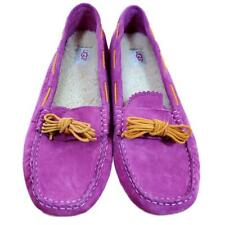 UGG Womens 12 Pink Moccasins Slippers Meena Loafers Shoe Suede Australia 1003739