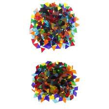 500x Azulejos de Mosaico Triángulo Rhombus Transparente Decorar Taza Marcos