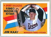 JIM KAAT MINNESOTA TWINS 1960 ROOKIE STAR STYLE CUSTOM MADE BASEBALL CARD BLANK