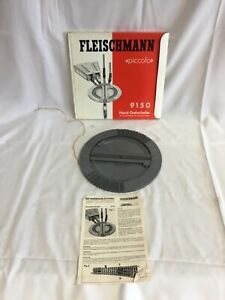 VINTAGE N GAUGE RAILWAY BOXED FLEISCHMANN PICCOLO ENGINE TURNTABLE 9150 -E3