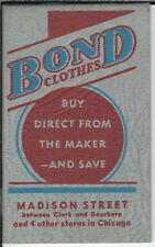 BB-136 Bond Clothes Madison Street, Chicago, IL Pocket Notebook Advertising