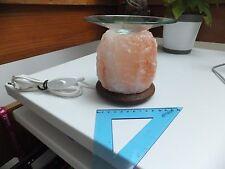 Lampe en cristal de sel avec coupelle verre (brûle parfum)